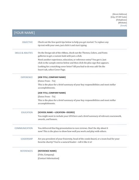 top tips  resume formats  resume