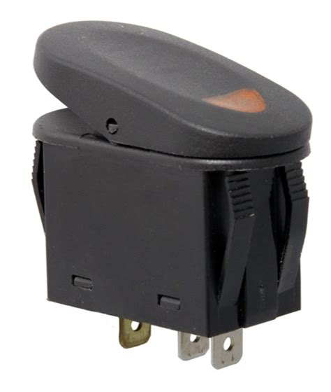 rugged ridge rocker switch two position black with