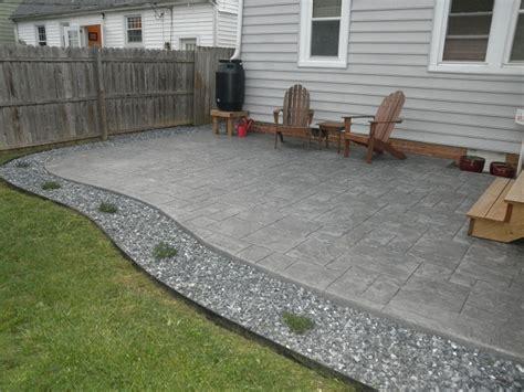 looking poured concrete patio design ideas patio