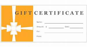 create your own gift certificate With design your own certificate templates free
