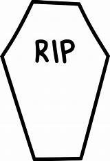 Coffin Rip Clipart Gravestone Tombstone Casket Drawings Transparent Funeral Icon Death Clipartmag Svg Onlinewebfonts Cliparts Webstockreview sketch template