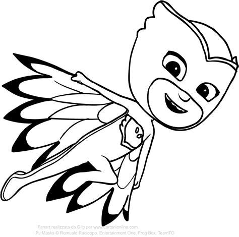 disegni da colorare pigiamini gattoboy superpigiamini colora la maschera di gattoboy cartoni
