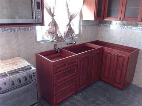 mueble bajo mesada  cocina  barbacoa en madera