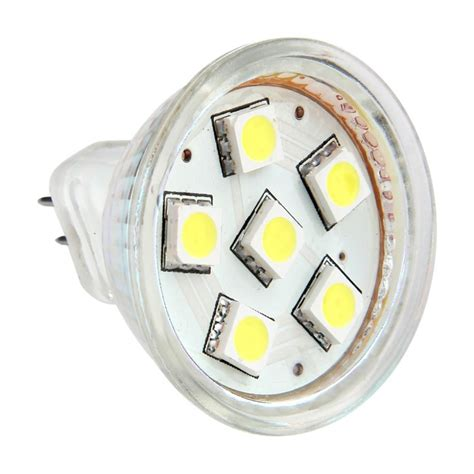 ac dc 12v 24v 1 5w 6x 5050 led light bulb mr11 gu4 bi pin