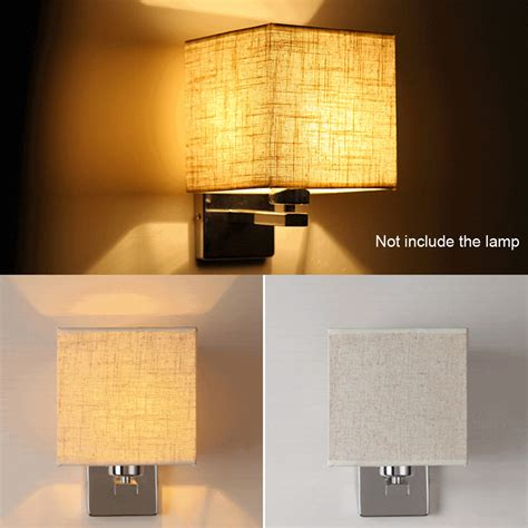 bedside sconces led cloth wall l sconce light for hotel reading bedroom