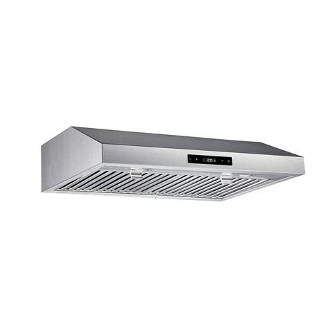 30 stainless steel range hood under cabinet vissani 30 inch 460cfm under cabinet range hood in