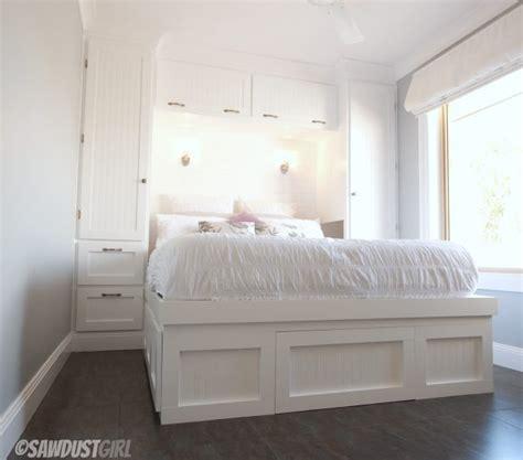 built in storage for bedrooms built in wardrobes and platform storage bed sawdustgirl