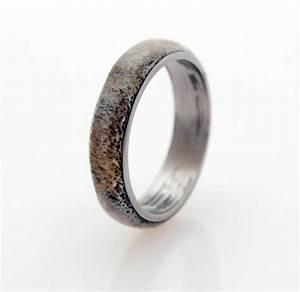 men titanium and antler wedding band titanium ring With men titanium wedding ring