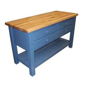 Kitchen Work Tables Islands Butcher Block Kitchen Island 303k4 From Coastal Woodcraft