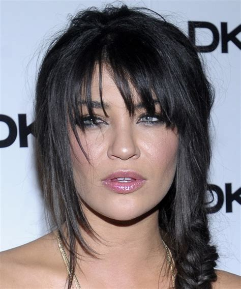 jessica szohr casual long curly updo hairstyle