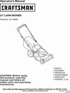 Craftsman 24738908 User Manual Lawn Mower Manuals And