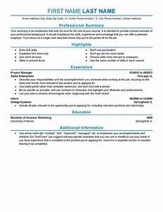 experienced resume templates to impress any employer With experienced professional resume template