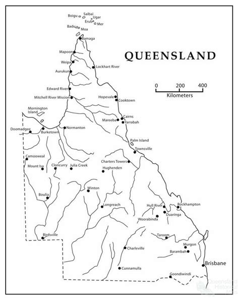 river map queensland australia
