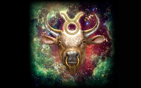 zodiac taurus fantasy abstract background wallpapers
