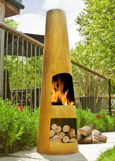 Make Your Own Chiminea by Turn Up The Heat On Your Pit Space Garden Club