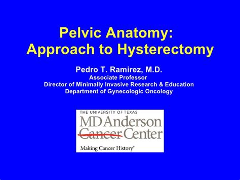 Anatomy for Hysterectomy