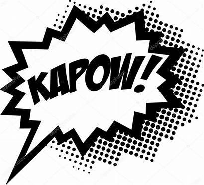 Bubble Comic Speech Kapow Cartoon Pow Vector