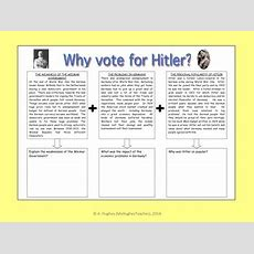 Why Did People Vote For Hitler And The Nazi Party? Nazi Worksheet & Powerpoint