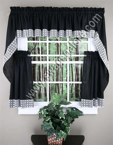 salem curtains black lorraine home fashions kitchen