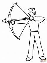 Coloring Archer Archery Pages Shooting Target Shoot Sniper Medieval Rifle Bow Arrow Drawing Printable Ready Minecraft Drawings Sheet Template Adult sketch template