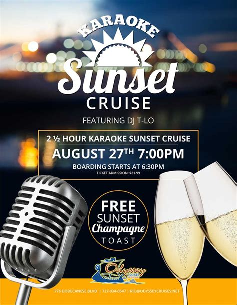 Boat Drinks Karaoke by Karaoke Sunset Cruise Odyssey Cruises