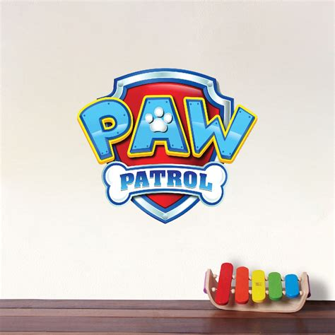 paw patrol logo wall decal paw patrol kids bedroom wall