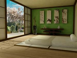 12 idees pour decoration zen de votre chambre a coucher With idee deco cuisine avec lit japonais