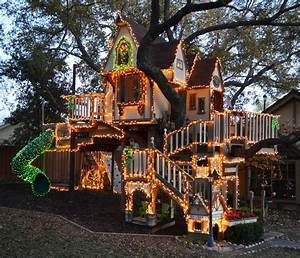 Dallas, TX: Christmas Lights Tree House - Eclectic - Kids
