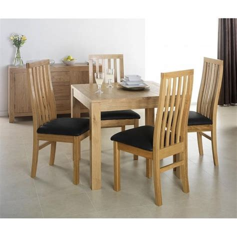 square oak kitchen table 20 best oak extending dining tables and 4 chairs dining