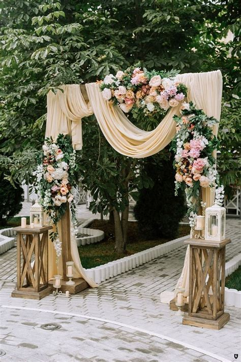 38 Floral Wedding Backdrop Ideas for 2019 Rustic