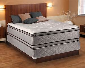 hollywood plush queen size pillowtop mattress and box With back spring bed