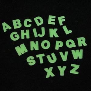glow alphabet letters With glow stick letters