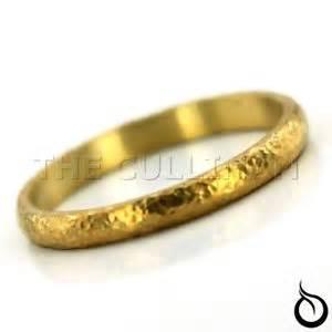 24k gold wedding band hammered wedding band stacking ring solid 24k gold ebay