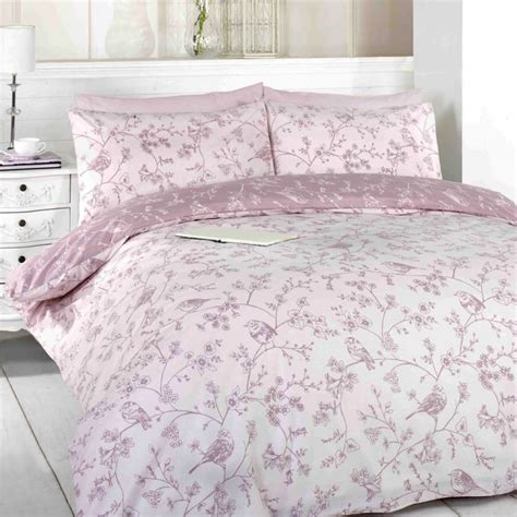 Toile Pink Birds Duvet Cover Set Tonys Textiles