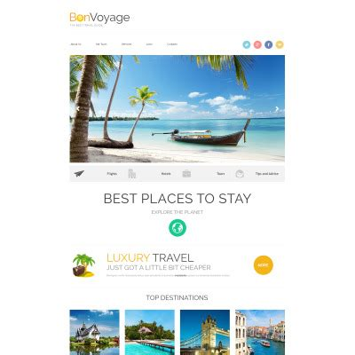 Travel Insurance Website Template by Travel Agency Website Templates