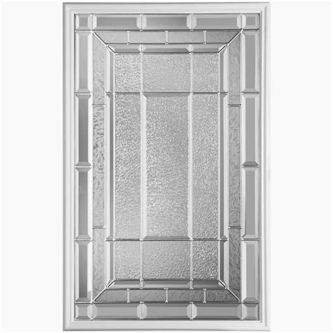 masonite sequence 22 inch x 36 inch nickel glass insert