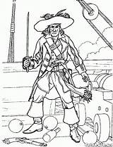 Pirate Coloring Battle Pages Colorkid Pirates sketch template
