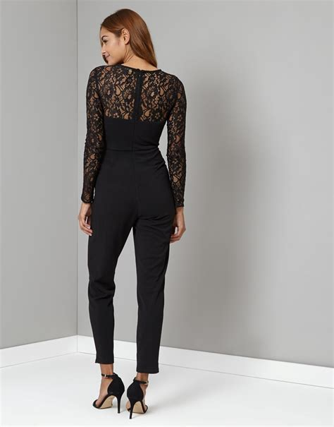 lace jumpsuit lipsy sleeve lace top jumpsuit lipsy