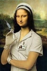 la joconde version moderne modern day mona parodies mona nurses and modern