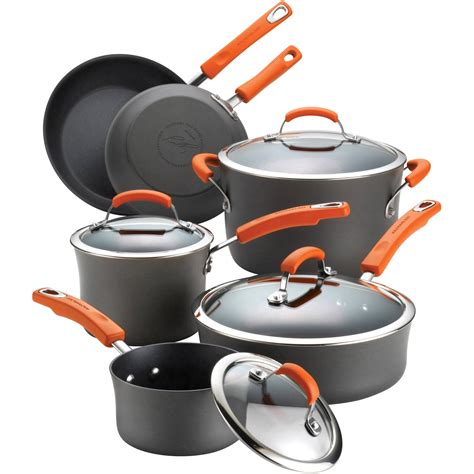 cookware ray rachael anodized hard sets nonstick walmart cooking piece dishwasher safe ii saucepans auctions