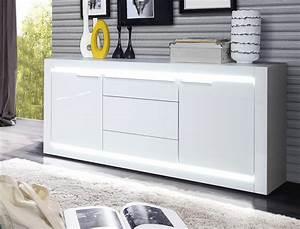 Sideboard Hängend Weiß Hochglanz : sideboard livorno 4 hochglanz wei 158x79x42 cm led ~ Watch28wear.com Haus und Dekorationen