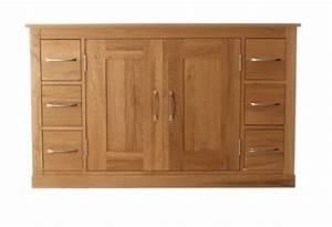 Mobel Oak Six Drawer Sideboard Wooden Furniture Store