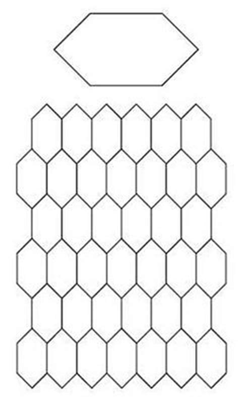 Free Paper Piecing Hexagon Templates by Pentagon Template Free Printable For Paper