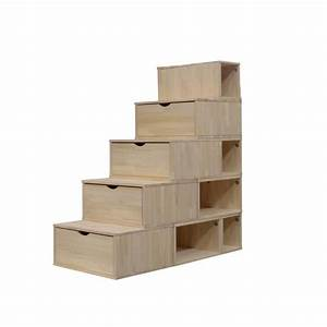 Cube En Bois Rangement : escalier cube de rangement hauteur 125 cm achat vente petit meuble rangement escalier cube ~ Melissatoandfro.com Idées de Décoration