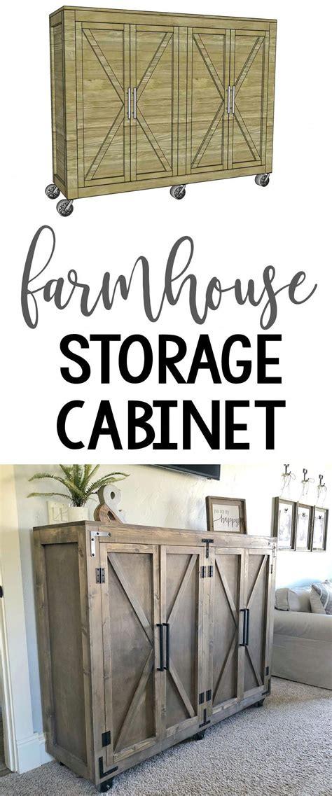 diy farmhouse storage cabinet  plans  tutorial