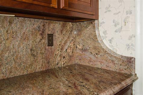 crema bordeaux granite with backsplash traditional