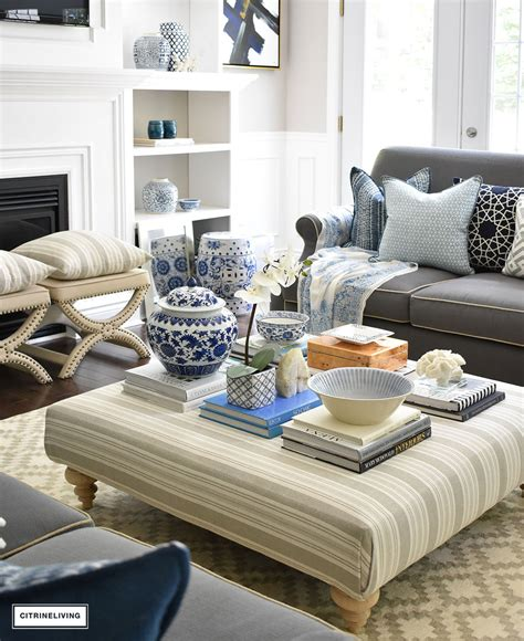 Elements of a copy table: STYLE A COFFEE TABLE OR OTTOMAN 3 WAYS - CITRINELIVING