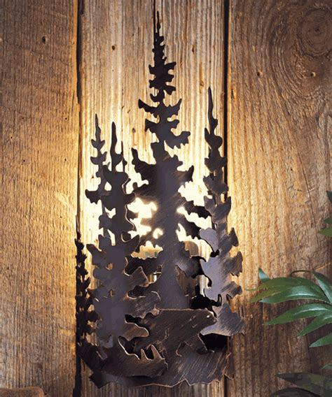 rustic sconces lodge wall ls
