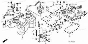 Honda Atv 2007 Oem Parts Diagram For Fuel Tank