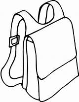 Backpack Coloring Pages Straps Template sketch template